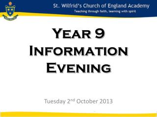 Year 9 Information Evening
