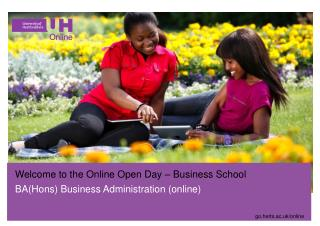 Welcome to the Online Open Day – Business School BA(Hons) Business Administration (online)