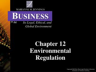 Chapter 12 Environmental Regulation