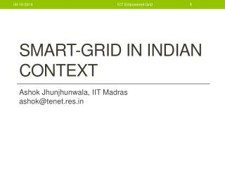Smart-Grid in Indian Context