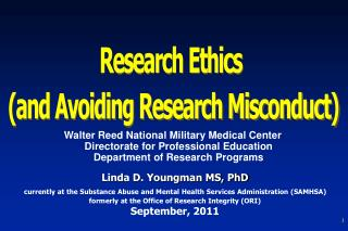 Research Ethics  (and Avoiding Research Misconduct)
