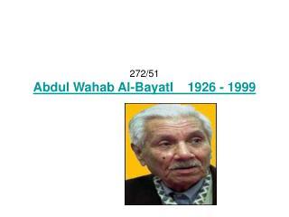 272/51 Abdul Wahab Al-BayatI    1926 - 1999