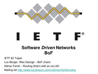 Software  Driven  Networks BoF