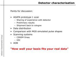Detector characterisation