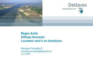 Regio Actie Diffuse bronnen Locaties rwzi�s en bedrijven