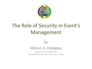 The Role of Security in Event's Management