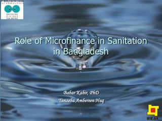Role of Microfinance in Sanitation in Bangladesh