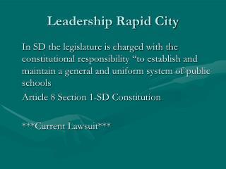 Leadership Rapid City