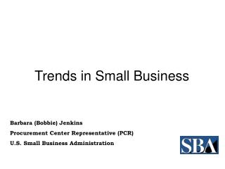 Trends in Small Business