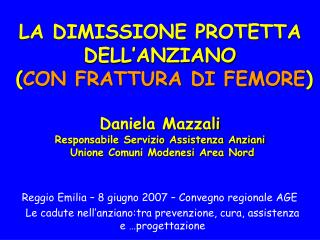 Reggio Emilia – 8 giugno 2007 – Convegno regionale AGE