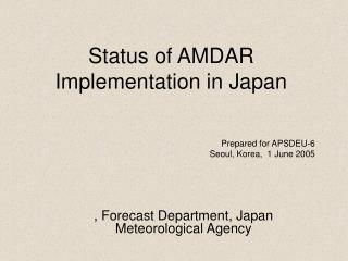 Status of AMDAR Implementation in Japan