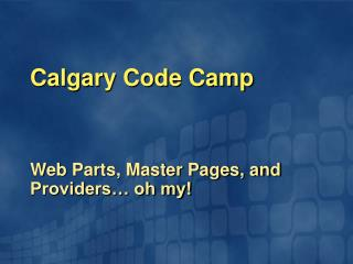 Calgary Code Camp