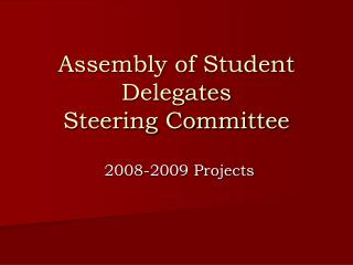 Assembly of Student Delegates Steering Committee