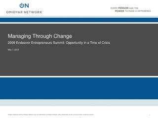 Managing Through Change