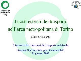 I costi esterni dei trasporti nell'area metropolitana di Torino