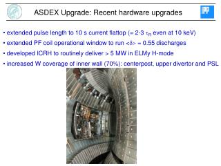 ASDEX Upgrade: Recent hardware upgrades
