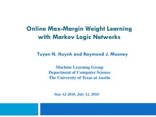 Online Max-Margin Weight Learning  with Markov Logic Networks