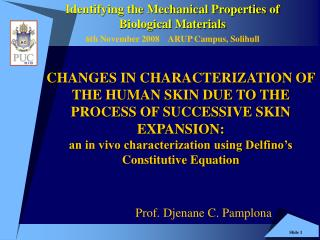 CHANGES IN CHARACTERIZATION OF THE HUMAN SKIN DUE TO THE PROCESS OF SUCCESSIVE SKIN EXPANSION: