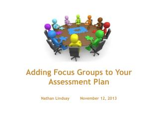 Adding Focus Groups to Your Assessment Plan Nathan Lindsay         November 12, 2013