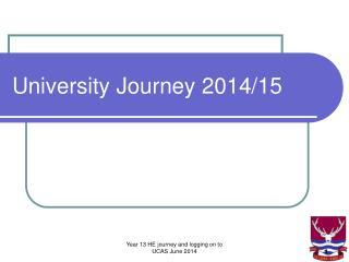 University Journey 2014/15