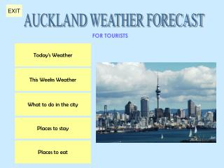 AUCKLAND WEATHER FORECAST
