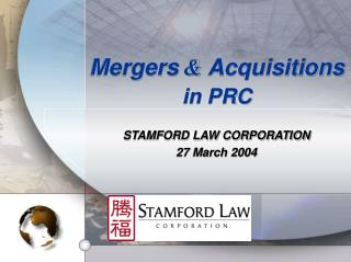 STAMFORD LAW CORPORATION 27 March 2004