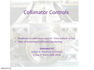 Collimator Controls