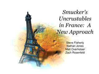Smucker's Uncrustables in France:  A New Approach
