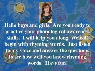 Phonological Awareness Practice
