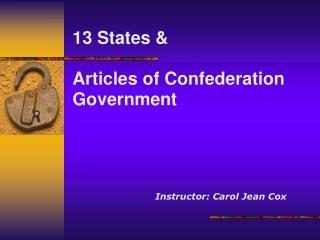 Instructor: Carol Jean Cox