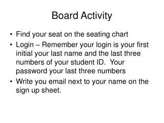 Board Activity