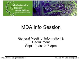MDA Info Session