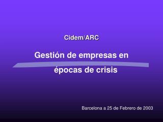 Cidem/ARC