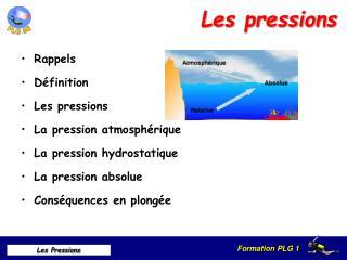 Les pressions