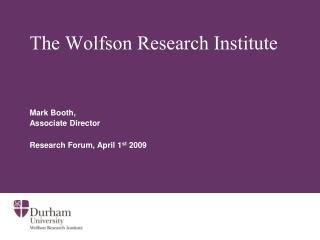 The Wolfson Research Institute