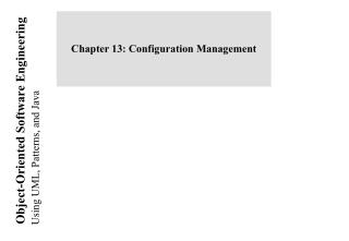 Chapter 13: Configuration Management