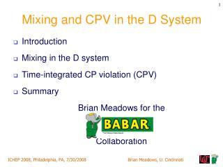 Mixing and CPV in the D System
