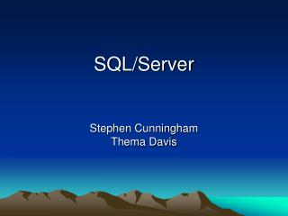 SQL/Server