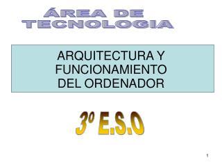 ARQUITECTURA Y FUNCIONAMIENTO DEL ORDENADOR