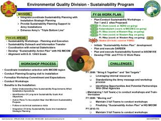Environmental Quality Division - Sustainability Program