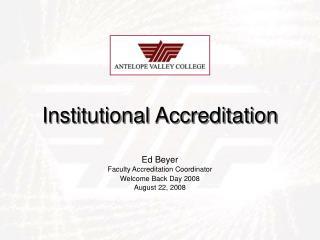 Institutional Accreditation