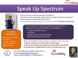 Speak Up Spectrum