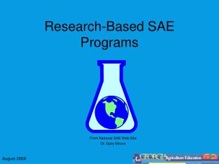 Research-Based SAE Programs