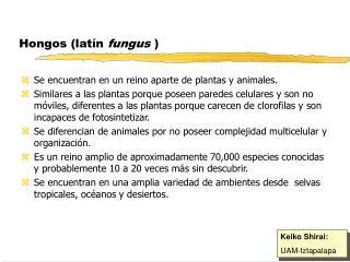 Hongos (latín  fungus  )