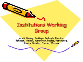 Institutions Working Group