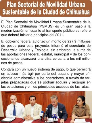 Plan Sectorial de Movilidad Urbana