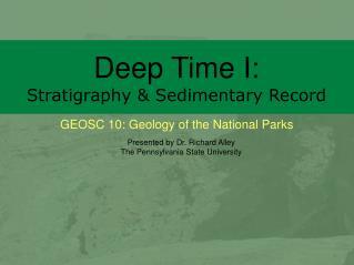 Deep Time I: Stratigraphy & Sedimentary Record