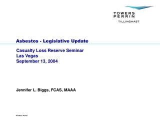 Asbestos - Legislative Update
