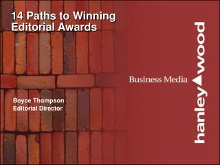 14 Paths to Winning Editorial Awards