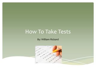 How To Take Tests